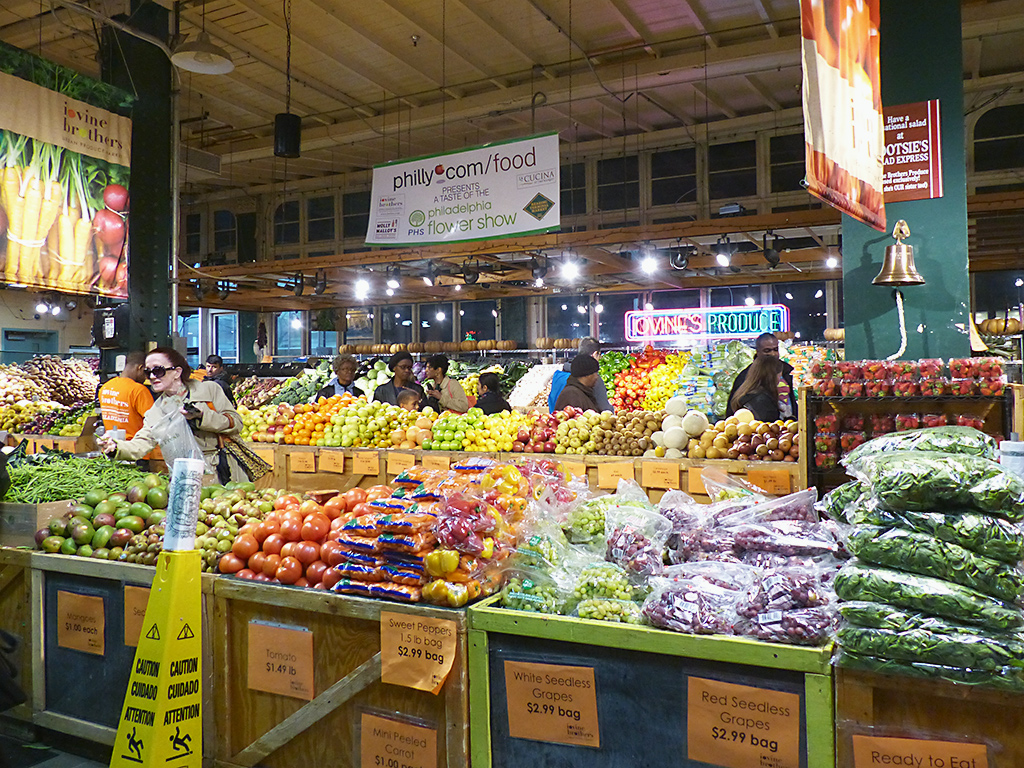 Fruits and veggies on display at Iovine Brothers