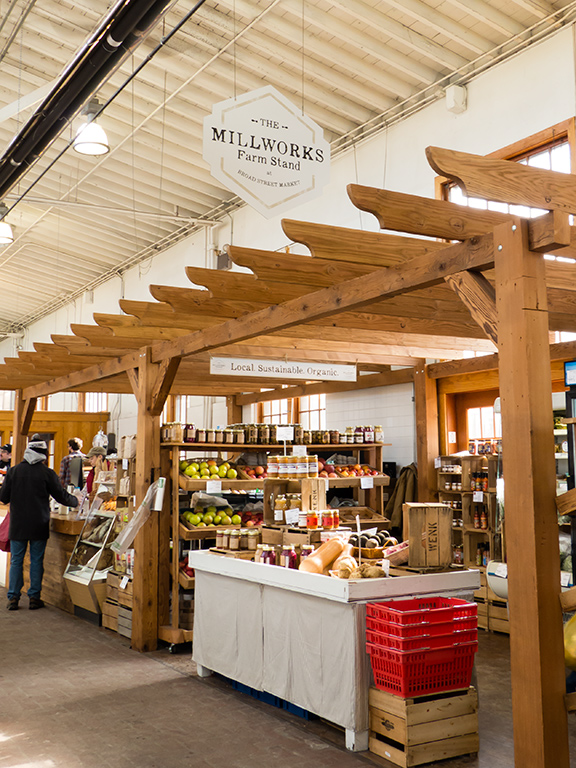 Millworks stand at Broad Street Market