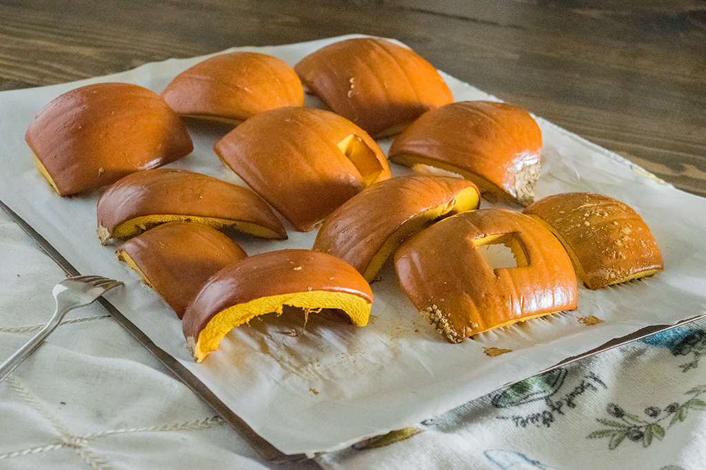 Roast pumpkin right out of the oven