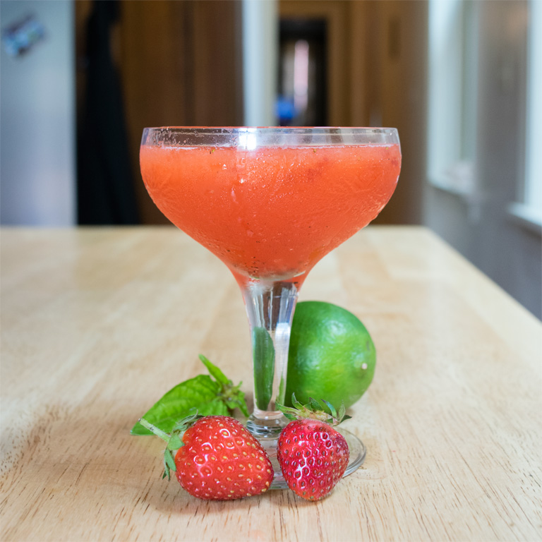 Strawberry Basil Gimlet